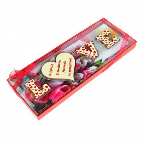 """Litery z czekolady """"LOVE"""""""